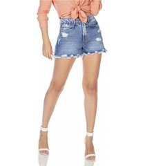 shorts jeans denim zero mom barra irregular