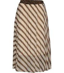 slamily skirt knälång kjol multi/mönstrad soaked in luxury