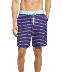 men's johnnie-o clairview swim trunks, size xx-large - blue