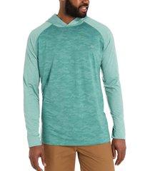 wolverine men's sun-stop pullover hoody arctic camo, size l