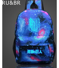 attack on titan backpack japan glow anime printing backpack cartoon travel bag n