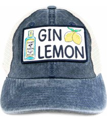 gin lemon print baseball cap