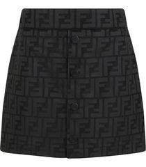 fendi black skirt for girl with iconic ff logo