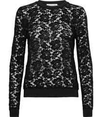 blouse ls blus långärmad svart rosemunde