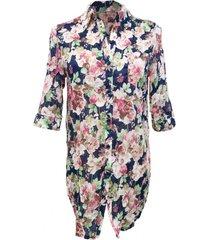 camisa floreada multicolor nicopoly