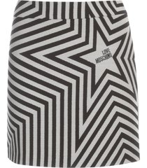 love moschino striped a line short skirt