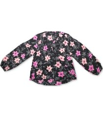 inc floral print surplice top, created for macy's