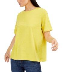 eileen fisher cotton t-shirt, regular & petite sizes