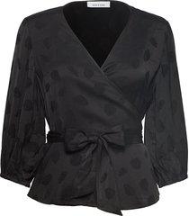 veneta blouse 11162 blouse lange mouwen zwart samsøe & samsøe