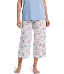 hue cotton temp tech flamingo-print capri pajama pants