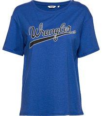 drape tee cobalt blue t-shirts & tops short-sleeved blå wrangler