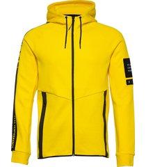 m tech zip hood hoodie trui geel peak performance