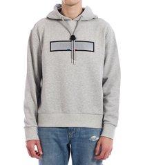moncler department hoodie gray