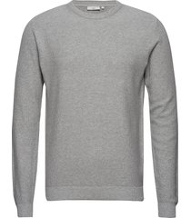 curth stickad tröja m. rund krage grå minimum