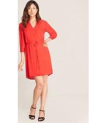 vestido lazo cintura rojo 12