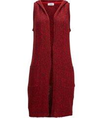 gilet in maglia lungo con cotone riciclato (rosso) - bpc bonprix collection