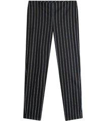 pantalon mujer rayas color negro, talla 10