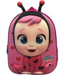 mochila 3d lady con antenas multicolor cry babies