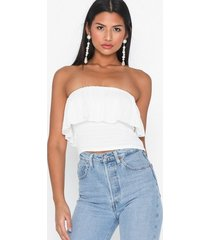 nly trend frill bandeau top linnen