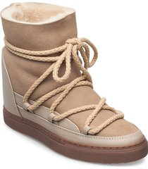 women sneaker classic wedge shoes boots ankle boots ankle boot - flat beige inuikii