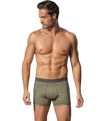 masculino interior boxer corto marrón leo 033127