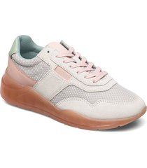 casual shoes leather låga sneakers grå esprit casual
