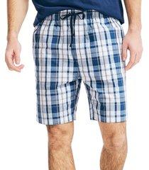 nautica men's plaid pajama shorts