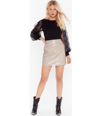 you look so vinyl croc mini skirt