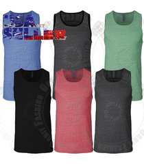 mens tank top t shirts tri blend plain muscle casual sleeveless tee tops s-xl