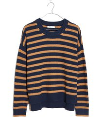 women's madewell stripe pickford pullover sweater