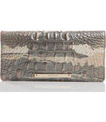 brahmin melbourne embossed leather ady wallet