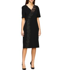 boutique moschino dress boutique moschino stretch cady sheath dress with macramé insert