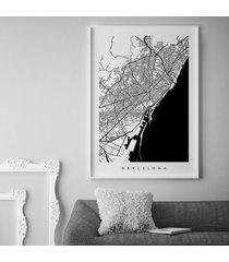 barcelona - plakat z mapą barcelony - prezent