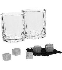 szklanka 2 szt. do whiskey kostki lodu zestaw