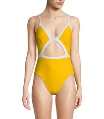 one-piece keyhole front swimsuit