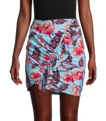 a.l.c. women's geller floral silk-blend skirt - size 2