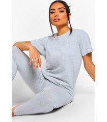 basic mix & match pyjama top, grey