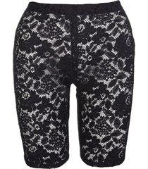 stella mccartney black lace isla shorts