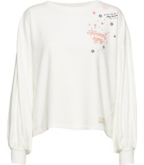 flaring spirit top sweat-shirt trui wit odd molly