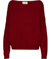damsville stickad tröja röd american vintage