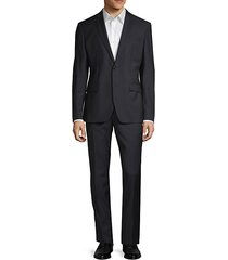 modern-fit pinstriped wool suit