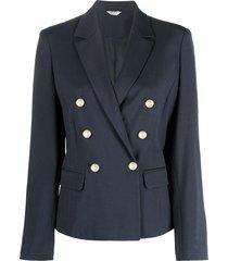 liu-jo double-breasted blue blazer in viscose blend