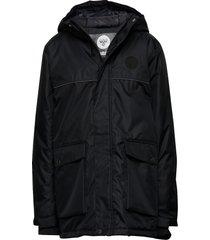 hmllothar jacket parka-jas blauw hummel