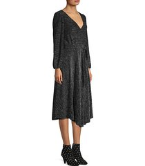 coco metallic midi dress