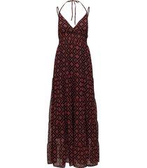 erica long dress ao18 maxiklänning festklänning röd gestuz