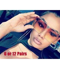 lot sale oversized flat top square retro shield style aviator sunglasses