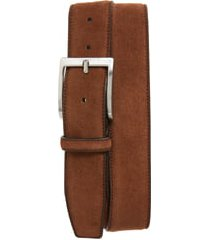 men's to boot new york suede belt, size 44 - suede alaska mid brown