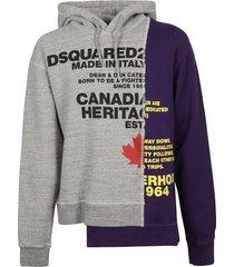 dsquared2 logo print asymmetric hoodie