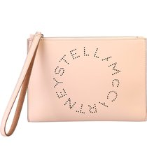 stella mccartney faux-leather clutch
