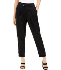 bar iii pleated cuffed-hem pants, created for macy's